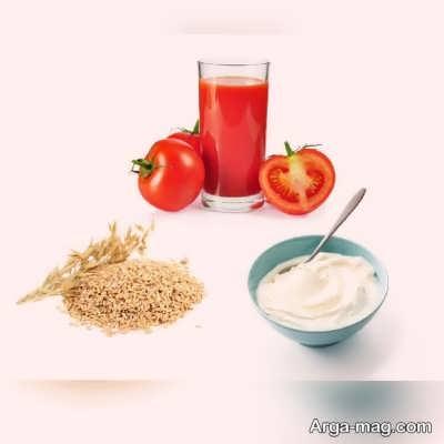 استفاده از ماسک گوجه فرنگی و جو دوسر برای پوست