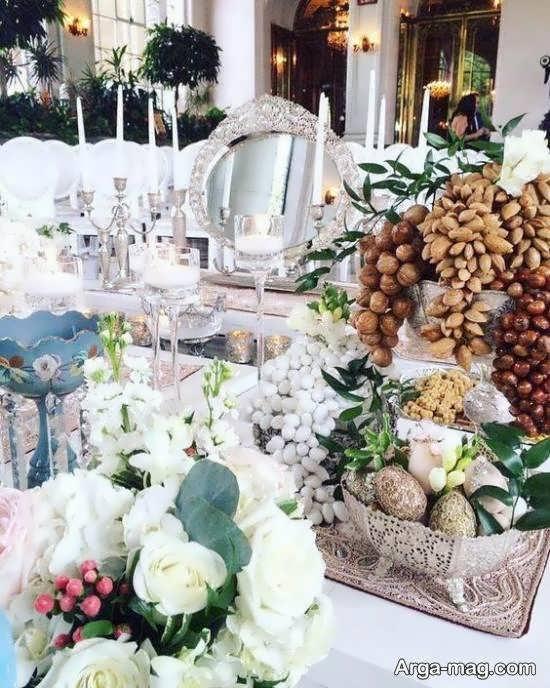 ایده های زیبایی از تزیین سفره عقد عروسی و نامزدی 2021