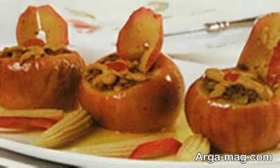 طرز تهیه دلمه سیب خوشمزه