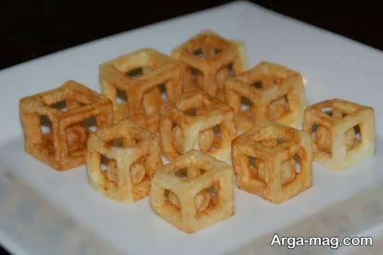 دیزاین سیب زمنی سرخ شده برای میان وعده ای دلچسب