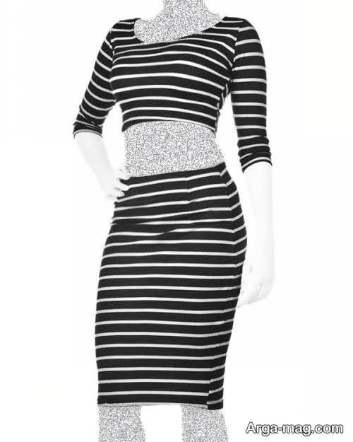 مدل لباس مجلسی نیم تنه و دامن با استایل های جدید