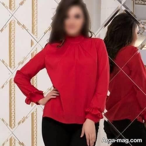 شومیز زنانه قرمز