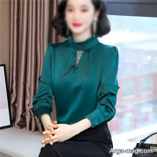شومیز سبز دخترانه
