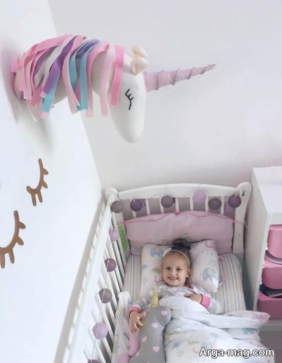 زیباسازی و طراحی اتاق کودک با تم اسب تک شاخ