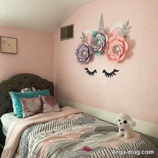 دیزاین زیبای اتاق کودک با تم یونیکورن