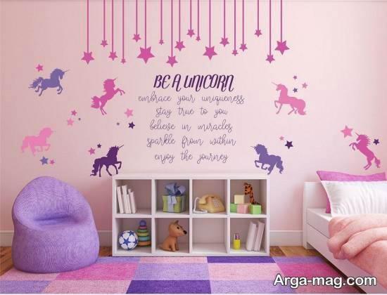 نمونه هایی ناب و نفیس از طراحی اتاق بچه با تم یونیکورن