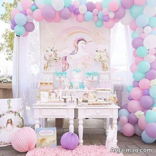 مجموعه ای دوست داشتنی از دیزاین دخترانه اتاق کودک با تم تک شاخ