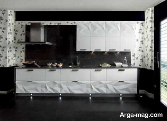 گالری زیبایی از مدل کابینت سفید مشکی