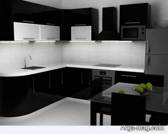 انواع مدل های زیبا و متفاوت کابینت سفید سیاه