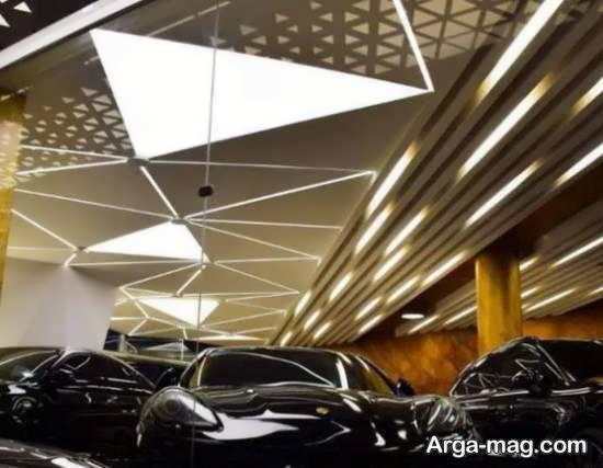 انواع نمونه های شیک و لوکس دکوراسیون نمایشگاه اتومبیل