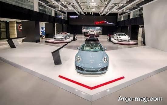 مجموعه ای متفاوت و لوکس از ایده های دکوراسیون نمایشگاه اتومبیل
