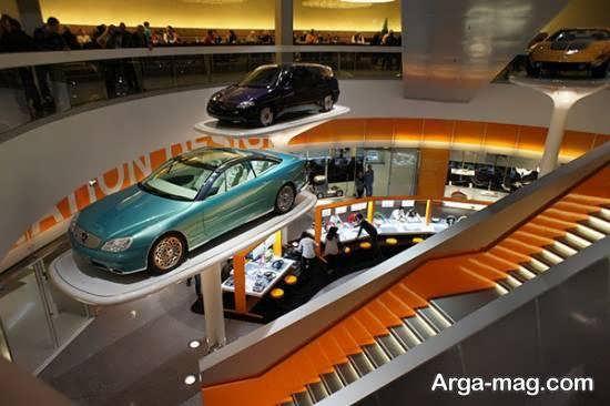 نمونه هایی متفاوت از طراحی نمایشگاه اتومبیل