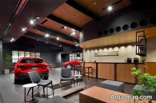 طراحی جذاب و زیبای نمایشگاه اتومبیل