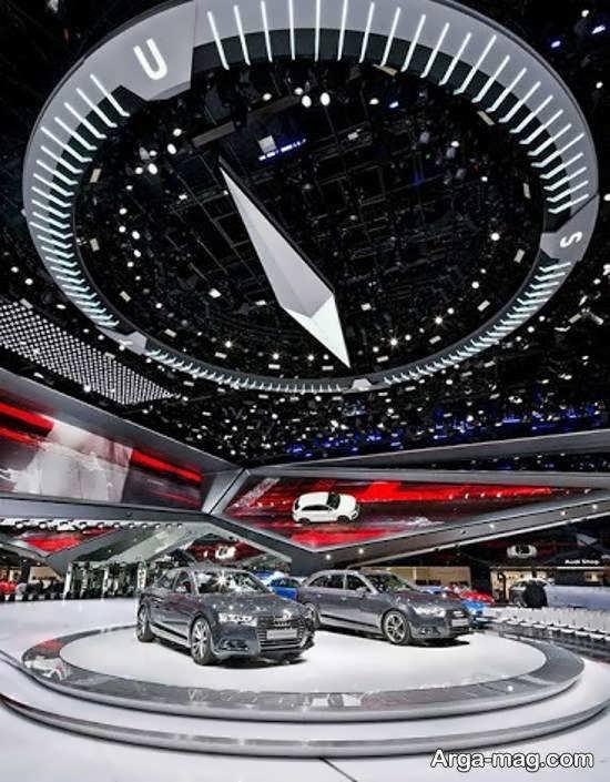 دیزاین زیبای نمایشگاه اتومبیل