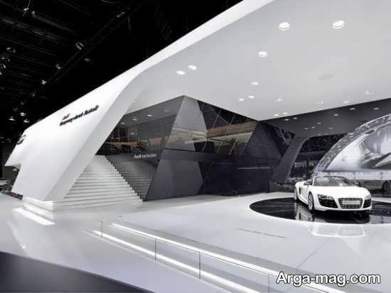 آشنایی با طراحی شیک و اصولی نمایشگاه اتومبیل