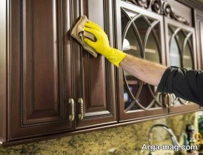 نحوه تمیز کردن کابینت با ساده ترین روش ها
