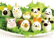 تزیین تخم مرغ آبپز