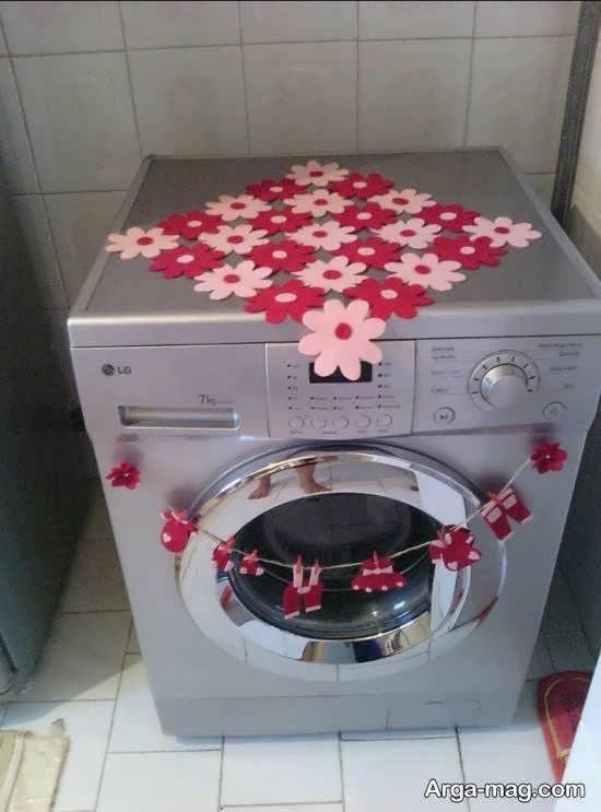 انواع نمونه های بینظیر تزیین ماشین لباسشویی عروس
