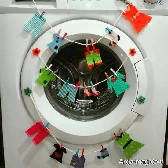 نمونه های جذابی از تزیین ماشین لباسشویی عروس