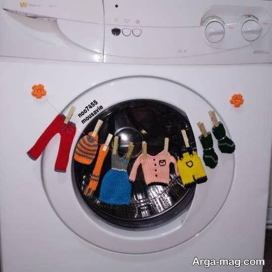 نمونه هایی شیک از تزیین ماشین لباسشویی عروس