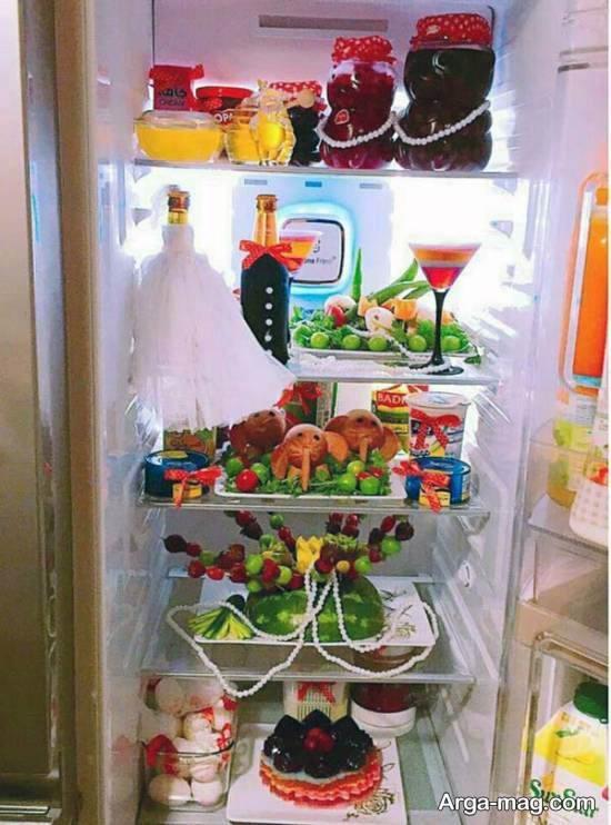 انواع نمونه های تزیین یخچال عروس ۲۰۲۱