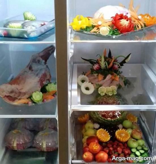انواع طرح های لاکچری و جدید تزیینات یخچال عروس ۲۰۲۱