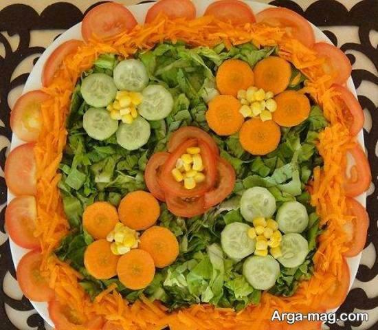 انواع ایده های زیبا و جذاب تزیین سالاد با هویج