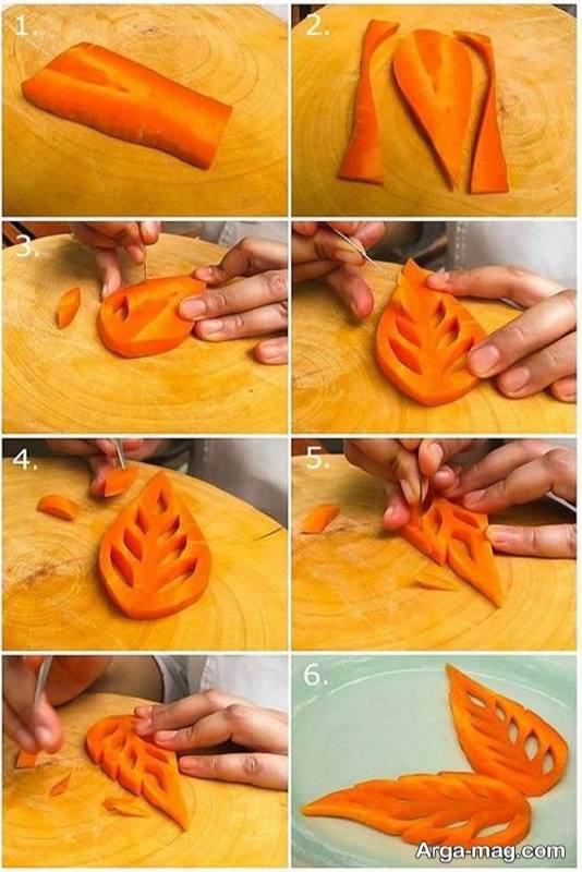 مجموعه ای خاص و زیبا از ایده های تزیین سالاد با هویج