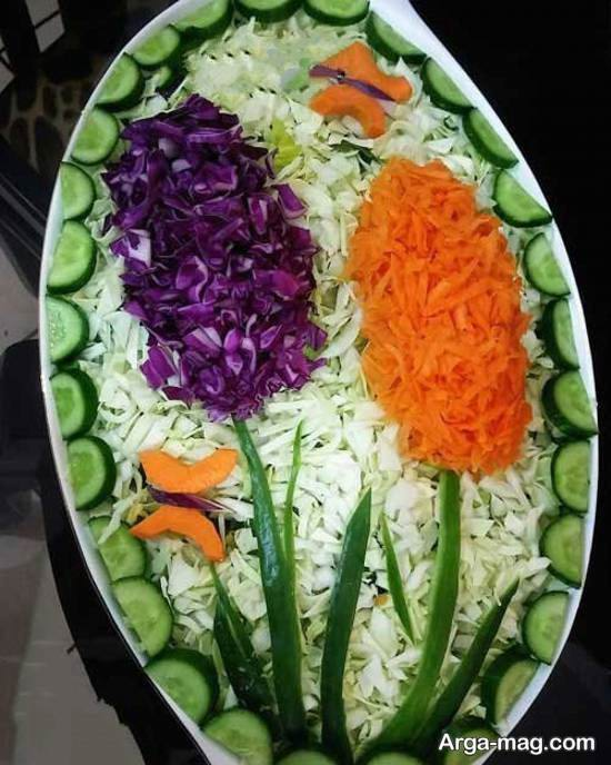 ایده هایی هنرمندانه و خلاقانه از تزیینات سالاد با هویج