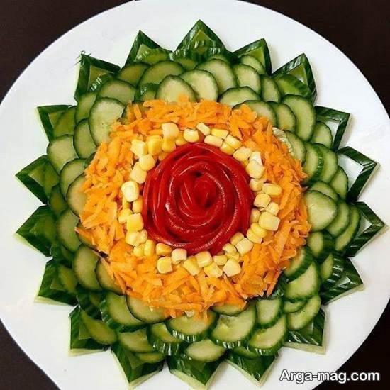کلکسیونی خاص و ناب از تزیین سالاد با هویج