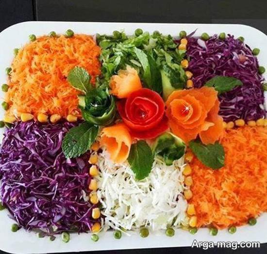 دیزاین ناب و خلاقانه از سالاد با هویج