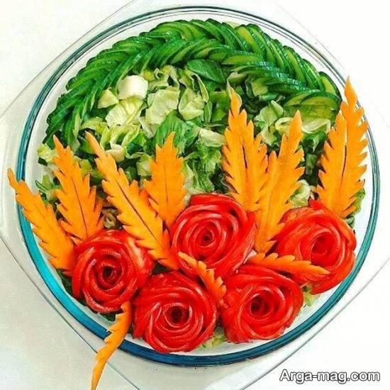 نمونه هایی زیبا و خاص از تزیین سالاد با هویج