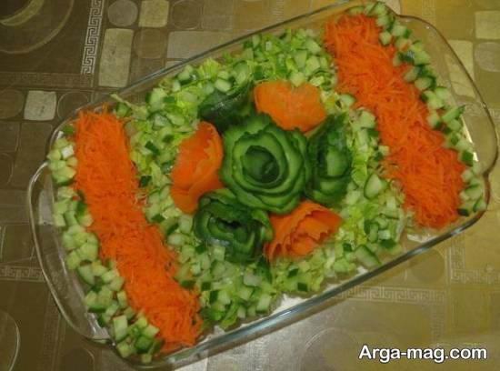 تزیینات و طراحی دوست داشتنی سالاد با هویج
