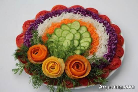 انواع نمونه های زیبا و ناب تزیینات سالاد با هویج