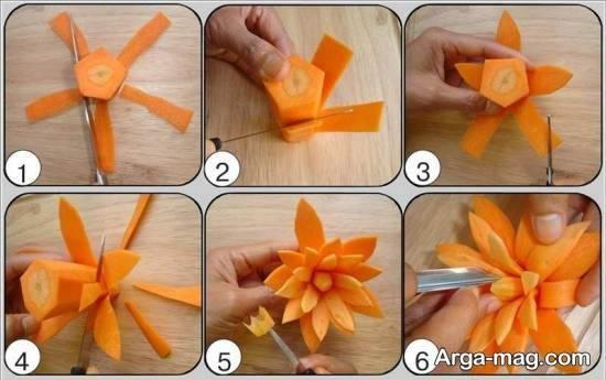 کلکسیونی زیبا و خلاقانه از تزیینات سالاد با هویج