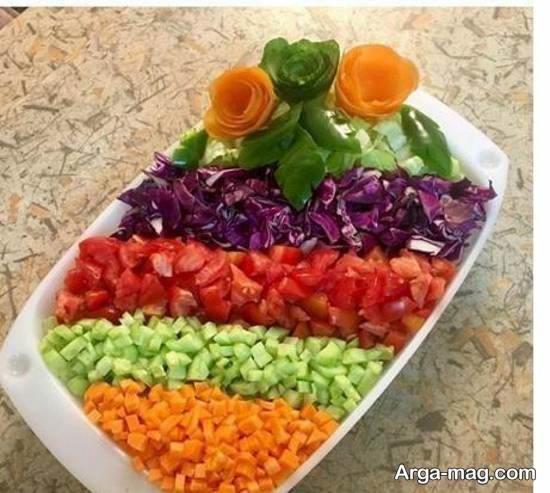 الگوهایی بینظیر و خاص از تزیین سالاد با هویج