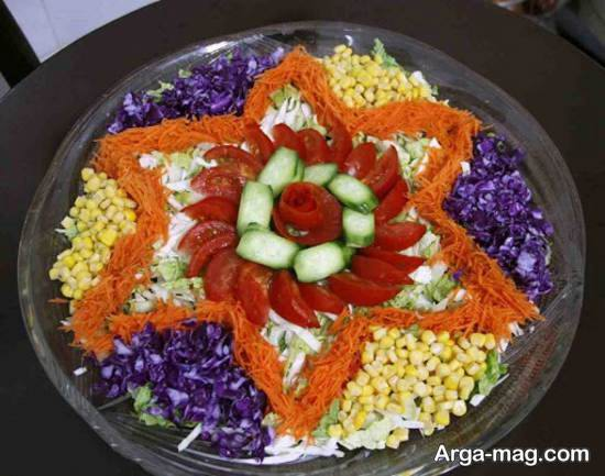 الگوهایی ایده آل همراه با سلیقه از تزیینات سالاد با هویج