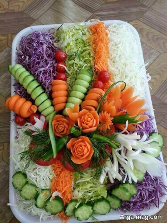 انواع ایده های فوق العاده از تزیین سالاد با هویج