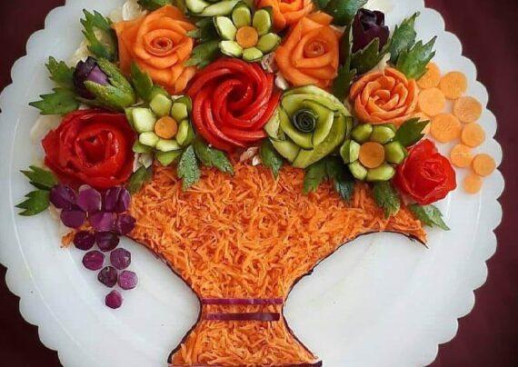 مجموعه اي شيك از ايده هاي تزیین سالاد با هویج