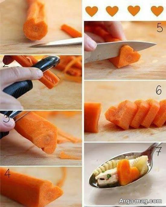 نمونه هایی زیبا و جالب از دزاین سالاد با هویج