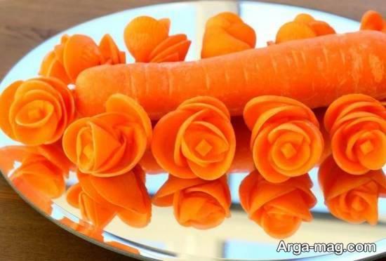 مجموعه ای متفاوت و ایده آل از تزیینات سالاد با هویج