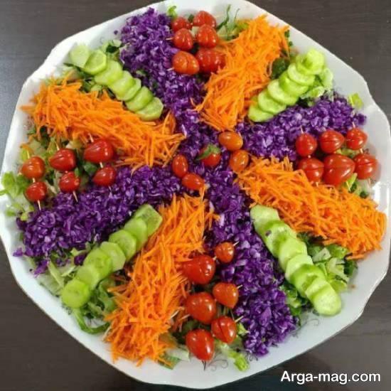تزیین منحصر به فرد سالاد با هویج برای مهمانی و جشن