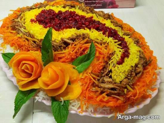 انواع نمونه های بینظیر و جذاب تزیینات سالاد با هویج