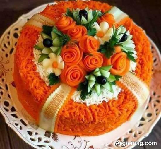 نمونه هایی ناب و نفیس از چیدمان سالاد با هویج