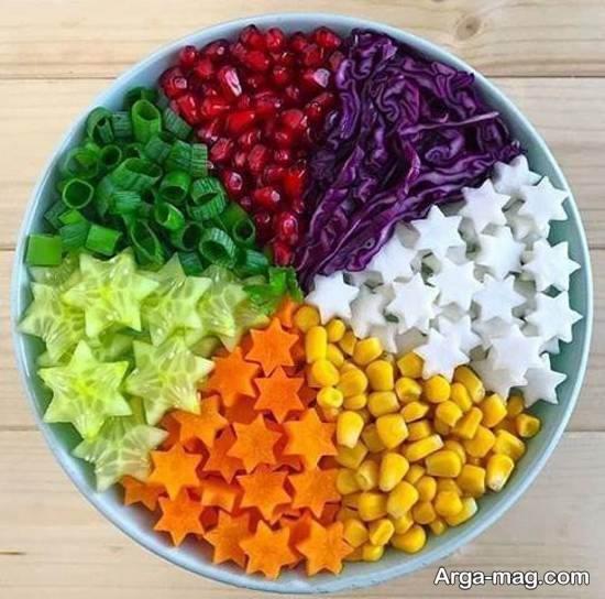 تزیینات منحصر به فرد و باسلیقه سالاد با هویج