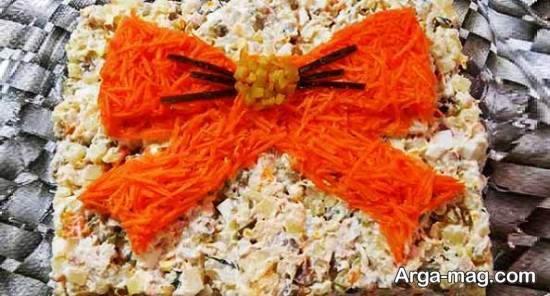 چیدمان و زیباسازی سالاد با هویج