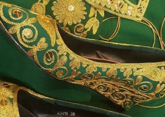مدل کفش گلابتونی