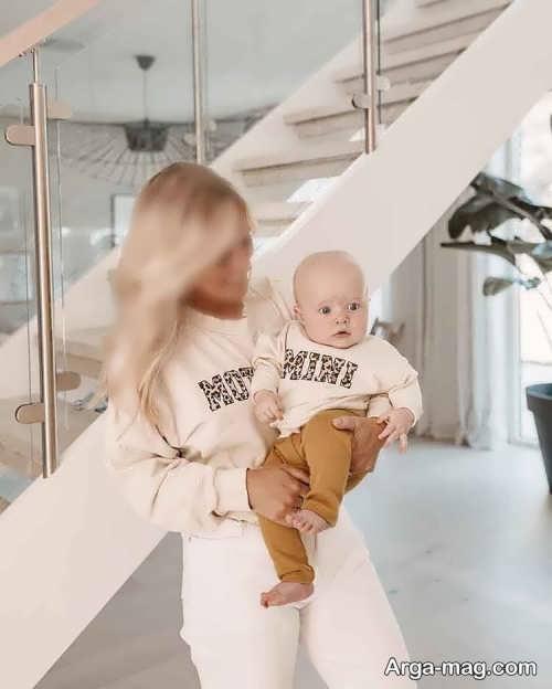 طرح لباس برای مادر و نوزاد
