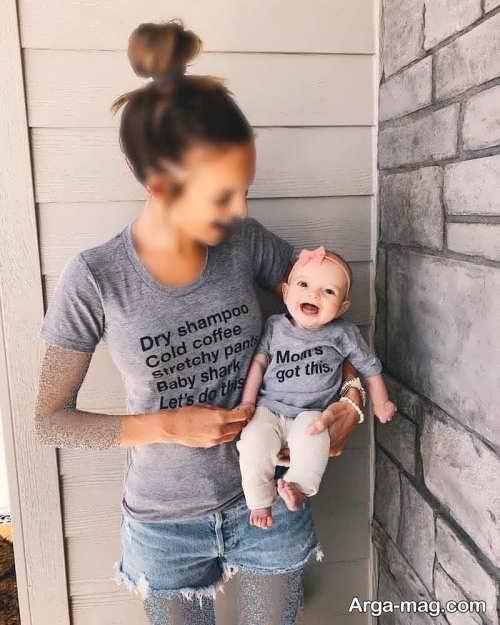 لباس برای نوزاد و مادر