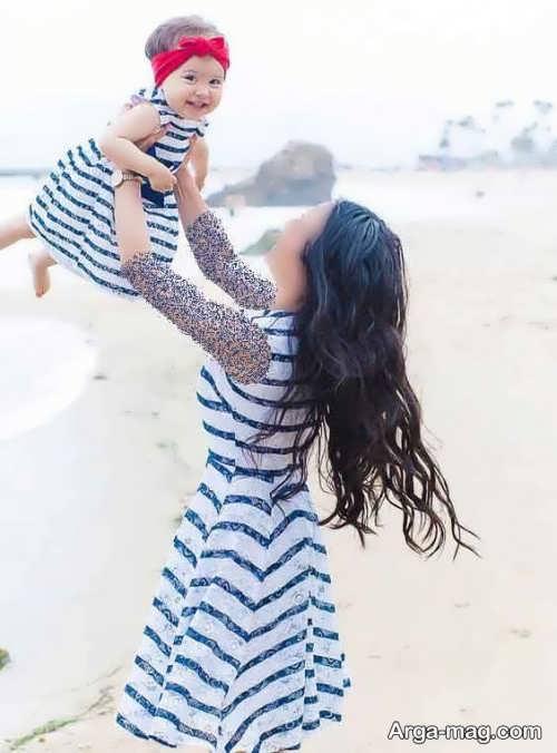 پیراهن برای نوزاد و مادر